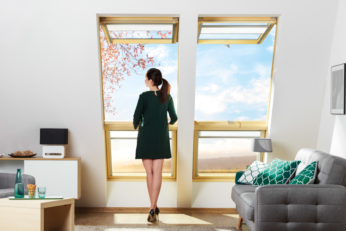 Opening up - the space in your room. Top hung and pivot window FPP-V preSelect MAX