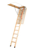Folding metal section loft ladders