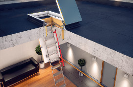 Flat roof access door