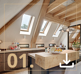 Interiors in the attic - kitchen