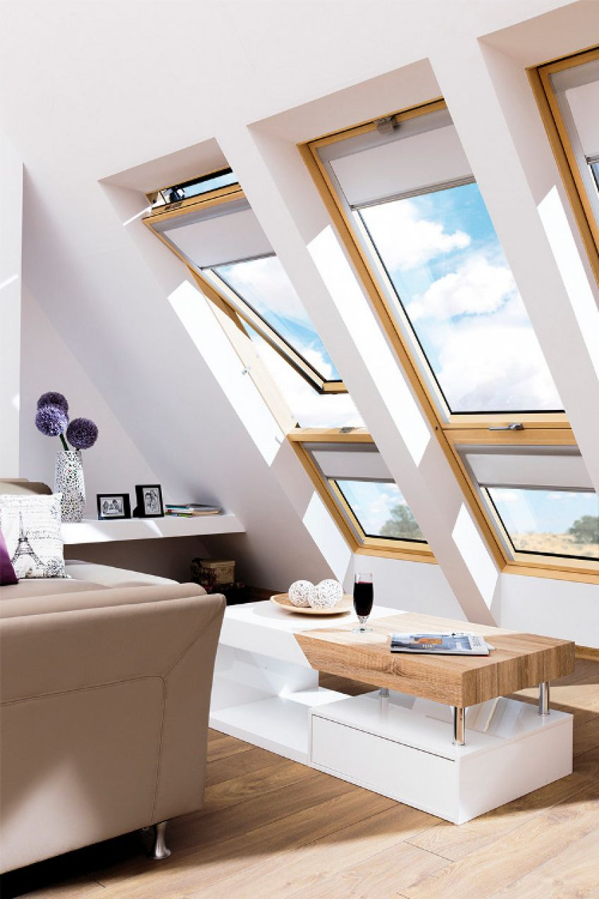 Innovative Large Roof Window In Which The Open Sashes